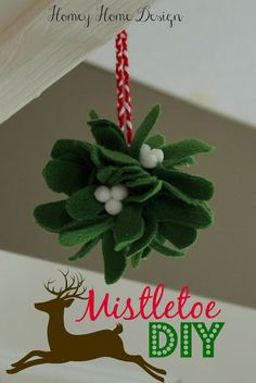 Mistletoe Kissing Ball DIY - should do this with (paint foot prints on) felt