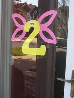 Butterfly birthday party number sign. Except use '1' for Natalie. <3