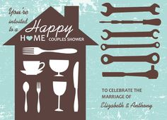 Tool Party Couples Shower Invite by PurpleTrail.com
