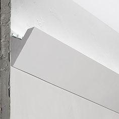 Cornice per installazione LED Lunghezza: 1,50 metri x 2 Altezza: 7,5 cm Spessore: 4,3 cm 2 profili lunghezza tot 3 metri