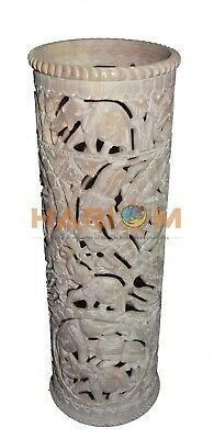72 12 Marble Flower Vase Click For More In 2020 Stone Vase Painted Glass Vases Black Vase