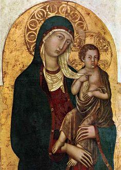 Niccolo, di Segna - Virgin with Child - Medieval & Gothic Art -