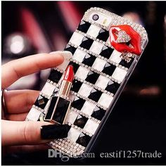 hot selling luxury minion bling crystal glitter rhinestone girls lip cell phone case fashion for iphone 4 4s 5 5s 5c 6 6plus