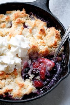 Keto Berry Cobbler - The perfect summer dessert, with a Keto twist. Super easy to make and absolutely delicious!