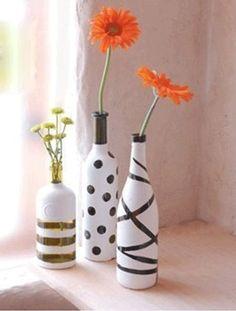 Como pintar una botella de vidrio por fuera - Imagui