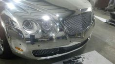 Sticker Dude chrome Bentley wrap