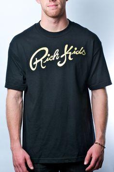 RK Cursive(Black/Rich Gold) by Rich Kids Brand