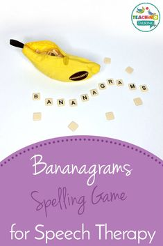 The Bananagrams Game is great fun for school aged children and is ideal for training vocabulary building and phonological awareness. Social Skills Activities, Teaching Skills, Spelling Activities, Language Activities, Sequencing Activities, Aphasia Therapy, Speech Language Pathology, Speech Therapy Activities, Speech And Language