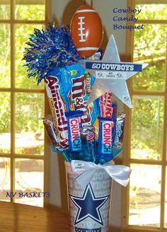 Dallas Cowboy (NFL) candy bouquet.