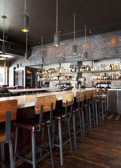 Barcelona Wine Bar Atlanta Oval bar with kitchen at the back?: