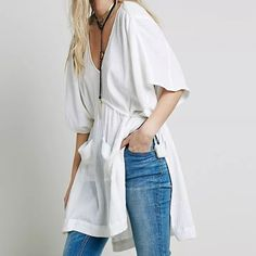 Free People cotton tunic Size XS NWOT Super cute tunic Price firm No trades . NWOT Free People Tops Tunics