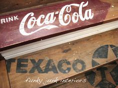 Why old signs? I've run a sign shop for 20 years, specializing in vinyl vehicle graphics. It's been a great run! But there was a little something missing. My first love for all things rustic kept surfacing....