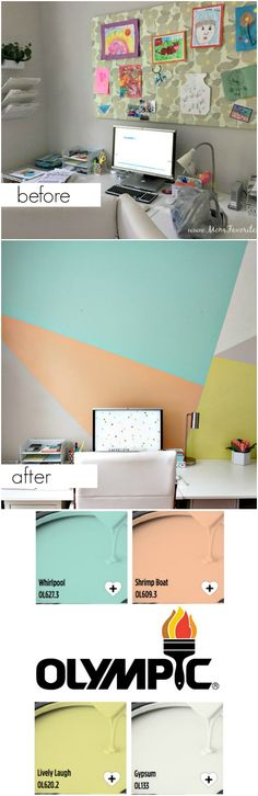 Accent walls have quickly become one of the most popular ways to spruce up a space. But if you've never painted one, the process can be a bit intimidating. Let Katie from DIY blog Mom Favorites walk you through the process. With her tips and a little help from the Olympic® Paint Visualizer, you'll be admiring a freshly-painted accent wall in no time.