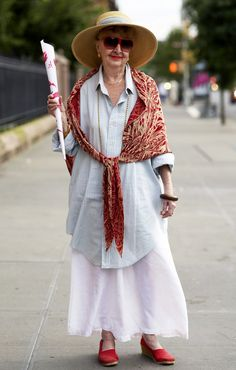 flowing skirts, scarves and a touch of color