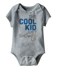 Heather Gray 'The Cool Kid' Bodysuit - Infant