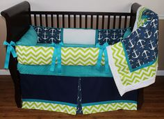 Navy Nautical Baby Bedding