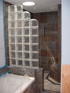 glass block showers glass block shower yelp small bathroom