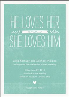 Such an adorable and unique #wedding #invite