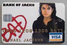 """Michael Jackson BAD "" Credit Cruncherz Collectable Novelty Credit Card  - http://www.michael-jackson-memorabilia.co.uk/?p=7481"