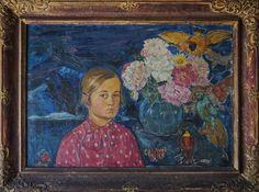 Valentin Držkovič: Děvče s květinami (The Girl with flowers), 1936