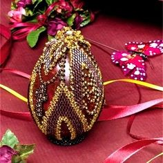 "Beaded Egg ""Easter flower"""