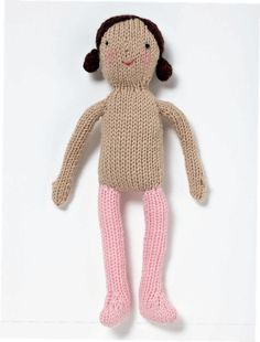 Basic Knitted Doll (Free Knitting Pattern) – Craftfoxes Best Picture For knitting patterns toys For Your Taste You are looking for something, and Knitting Dolls Free Patterns, Handmade Dolls Patterns, Knitted Dolls Free, Crochet Doll Pattern, Knitting Designs, Crochet Toys, Baby Born Kleidung, Knitted Animals, Easy Knitting