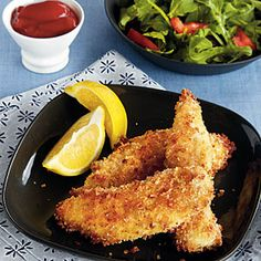 Parmesan–Panko Chicken Tenders | MyRecipes.com #protein #myplate
