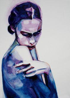 "Saatchi Online Artist: Patricia Derks; Oil, 2013, Painting ""J'adore/sold"""