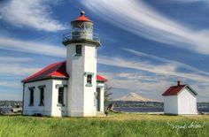 Point Robinson Light House on Vashon Island, Washington State  Spring 2016