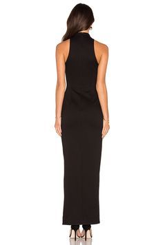 NICHOLAS Diamond Cut-Out Gown in Black | REVOLVE