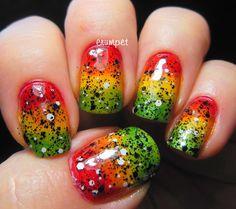 Tri Polish Challenge - Rasta Nails