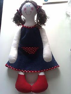 boneca de trapos Maria João
