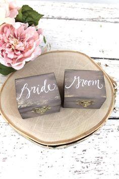 Alternative zum Ringkissen, Ringschatulle aus Holz, Hochzeit