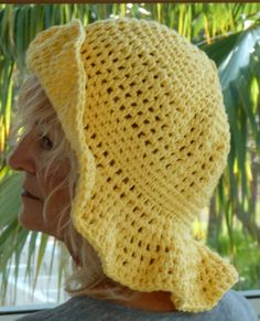 Woman's Floppy Yellow Summer Crochet Hat by hatsbyanne1942 on Etsy, $45.00