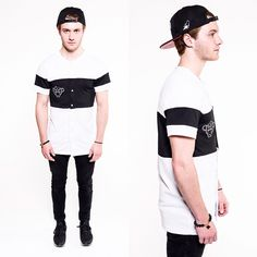 NEW! THE TWO-TONE BASEBALL JERSEY! MADE FROM MESH FABRIC. GET IT NOW!