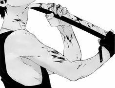 Image about black and white in Monochrome anime guys by ♚ 死神 ♚ Manga Anime, Manga Boy, Anime Art, Nicolas Brown, Me Me Me Anime, Anime Guys, Samurai Champloo, Sad Art, Dark Anime