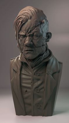 Dr. Jekyll & Mr. Hyde Halloween sculpts.  *edit: I've also included some timelapse videos for each sculpt, they're not the complete timelapses (as I'm still getting the hang of actually recording my sessions) :s   Hopefully they're interesting to someone...)