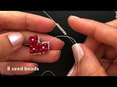 How to make beaded earrings - DIY Schmuck Beaded Earrings Patterns, Bead Earrings, Beaded Jewelry, Earrings Online, Beaded Necklace, Earring Tutorial, Bracelet Tutorial, I Love Jewelry, Jewelry Making
