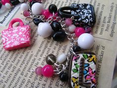 The Heather Purse Charm Bracelet. $40.00, via Etsy.