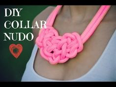DIY collar nudo - YouTube