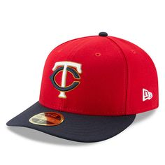 5011394cb46 Men s Minnesota Twins New Era Red Navy Alternate 2 Authentic Collection  On-Field Low Profile 59FIFTY Fitted Hat