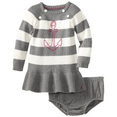 Isaac Mizrahi Baby Girls Infant Sweater Knit Ribbon And Bow Dress With Tight, Black/Pink, 24 Months Clothing