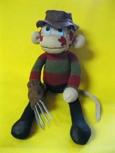 Freddy Krueger sock monkey