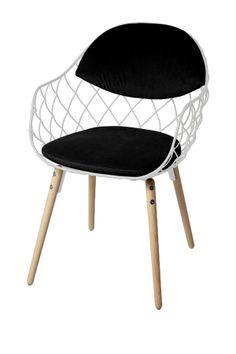 White/Black Peanuts Arm Chair//