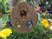 Glasstein Holz Sonnenfänger 8 cm
