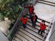 When we wanted to go down, our teacher wanted us to stood at the rung, and our teacher took a picture from the upper floor.. That's why I said if our teacher is so cool!!