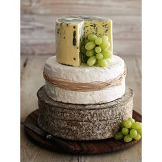 """I love this """"cheese cake"""" idea, but maybe for rehearsal hors d'oeuvres or an engagement party"""
