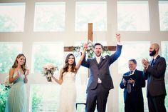 Ceremony | The Milestone Aubrey Mansion | Natalie Gore and James Casey Wedding Day | Mint Wedding | Stella York   #mint #wedding #theme