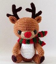 Rudy The Reindeer - Free Amigurumi Pattern (Beautiful Skills - Crochet Knitting Quilting) Crochet Christmas Decorations, Crochet Ornaments, Holiday Crochet, Christmas Knitting, Free Christmas Crochet Patterns, Cute Crochet, Crochet Crafts, Crochet Projects, Crotchet