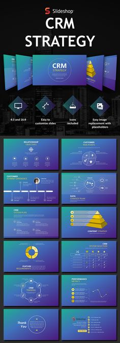 CRM strategy PowerPoint deck #presentationdesign